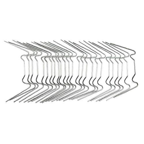 MICHAELA BLAKE Verre à Effet de Serre Vitrage Acier Inoxydable W Type Clips 100 Pcs Serre vitrage en Verre Volet Clips de Fixation