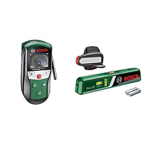 Bosch Inspektionskamera Universalinspec (Kamerakopf-Ø: 8mm, Kabellänge: 0,95 m) & Laser-Wasserwaage PLL 1 P (Arbeitsbereich Linienlaser 5 m, Arbeitsbereich Punktlaser 20 m, im Karton)