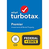 TurboTax Premier 2021 Tax Software, Federal and State Tax Return with Federal E-file [Amazon Exclusive] [PC/Mac Disc]