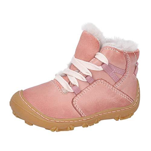 RICOSTA Kinder Barfußschuhe ENZO von Pepino, Weite: Weit (WMS),Barfuß-Schuh, leger lauflernschuh schnürschuh flexibel leicht,Rose,20 EU / 4 Child UK