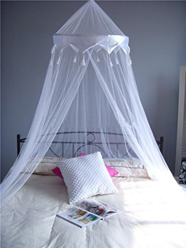 A-Express® White Mosquito Net Bed Canopy Up To King Size 100% Polyester 10...