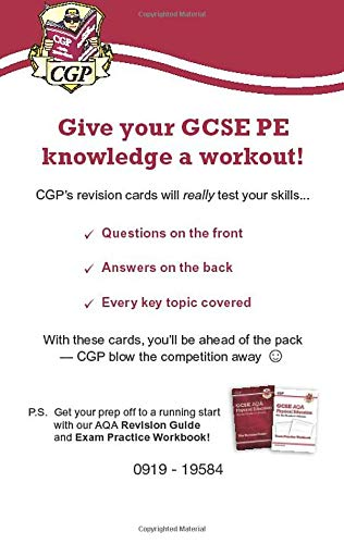 New Grade 9-1 GCSE Physical Education AQA Revision Question Cards: perfect revision for mocks and exams in 2021 and 2022 (CGP GCSE PE 9-1 Revision)