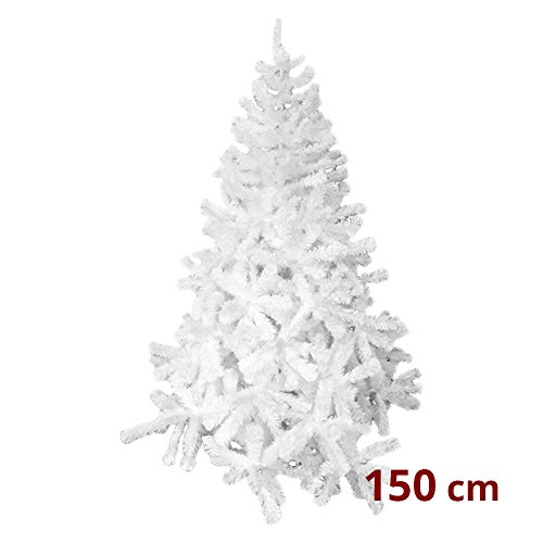 We Love Christmas Albero di Natale Abete Bianco Iridescente 150cm