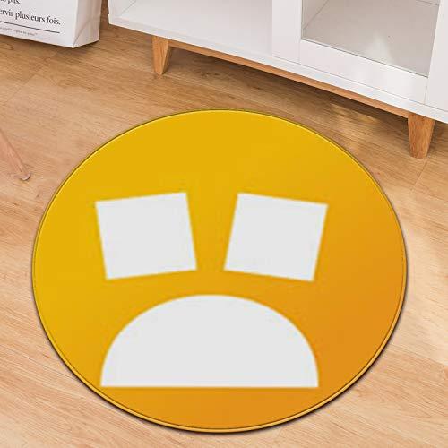Alfombra Redonda Emoji Cojín para Silla De Computadora En Casa Cojín para Asiento De Oficina Alfombra De Entrada Material Antideslizante Resistente Al Desgaste