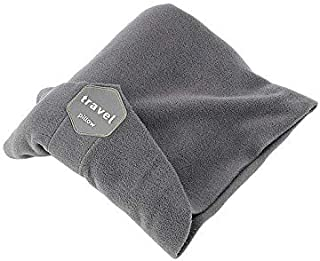 Travel Pillow Scarf for Airplane - Adjustable, Lightweight and Soft Travel Neck Pillow - Portable, Grey
