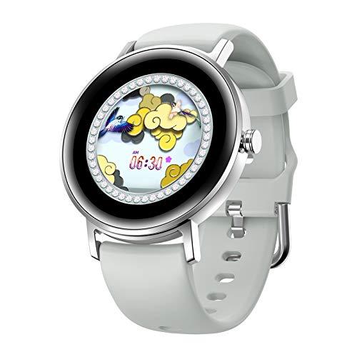 HQPCAHL Smartwatch | Reloj Inteligente | Pulsera De Actividad IP67 | Pulsómetro Y Monitor De Presión Arterial | BT Music | Multideporte,Plata