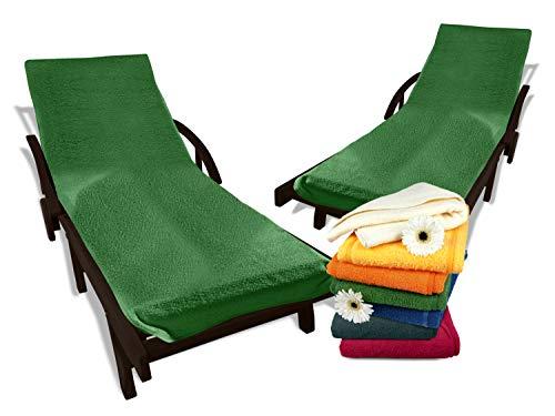 Dyckhoff Doppelpack Schonbezüge mit Kapuze - für Gartenstuhl oder Gartenliege 277.1716, Gartenliege, grün