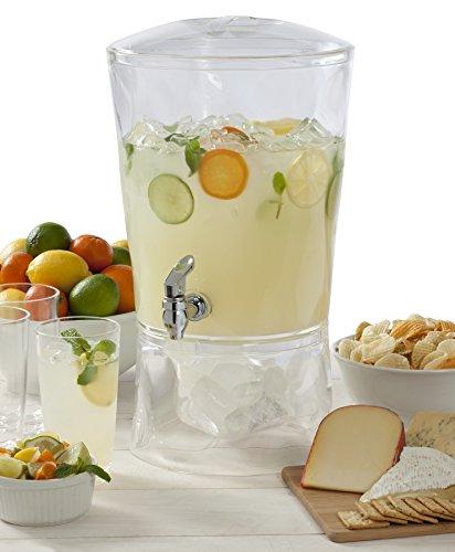 CreativeWare Sculptured Beverage Dispenser, Clear