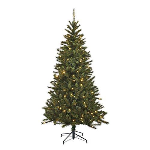 Black Box Trees Slim Kingston Pine Sapin de Noël Artificiel 120 LED 345 Branches Vert 155 x 86 cm
