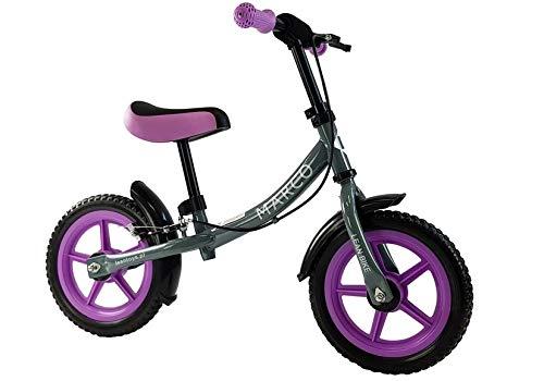 Lean Toys Marco VIOLETT - Bicicletta per bambini, 28 cm, telaio in metallo, ruote in schiuma