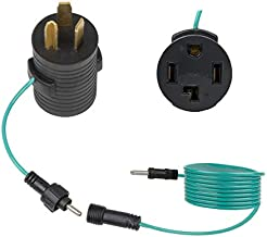 Nema 10-30P to 14-30R Dryer Adapter, 3-Prong Dryer Male to 4-Prong Dryer Female Adapter, 10-30P to 14-30R with Additional Green Ground Wire, Dryer 3-Prong Convert to 4-Prong