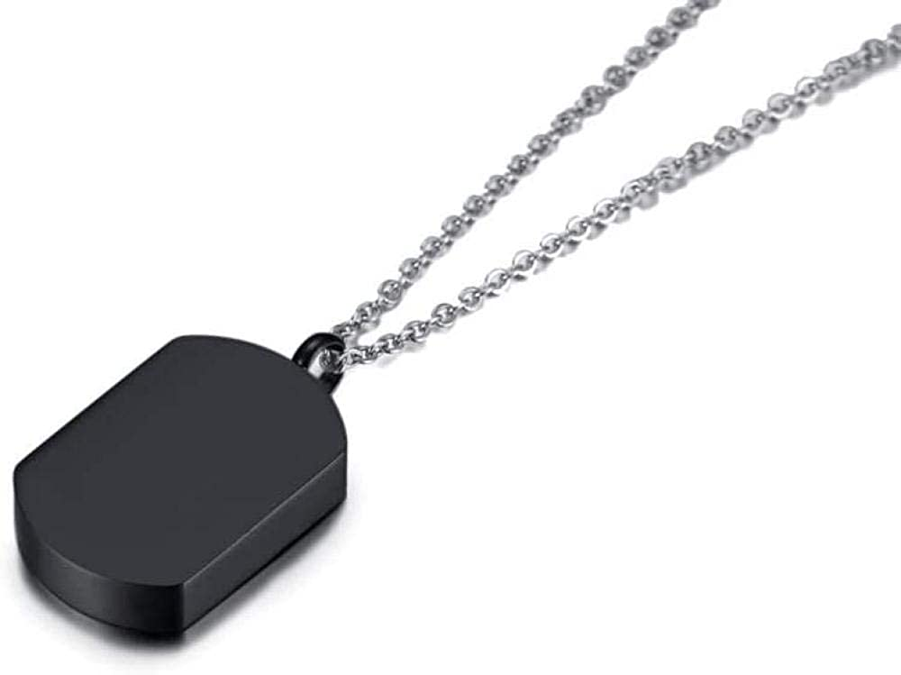 Cremation Jewelry Urn Urns Ashes Pendant Jewelry Stainless Steel Jewelry Simple Titanium Steel urn Box Necklace can be Opened Black
