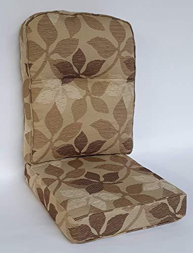 Cojines de Repuesto para Muebles de Invernadero y Asiento Trasero Dividido y cojín de Respaldo para sillas y sofás y Tela Bari