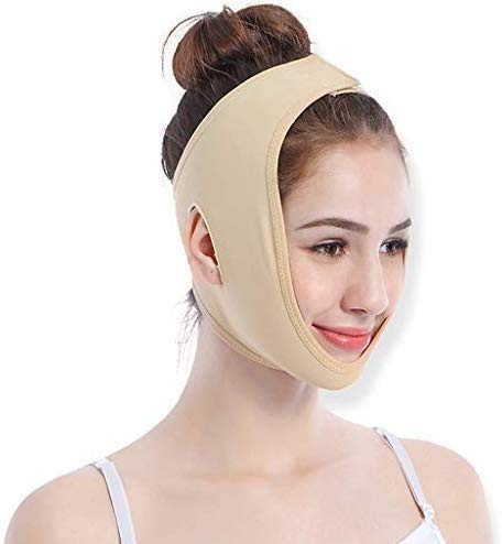 De band voor gezicht opheffing band artefact V Menton Gezicht Double Face Mask Sleep Massage Lifting,M