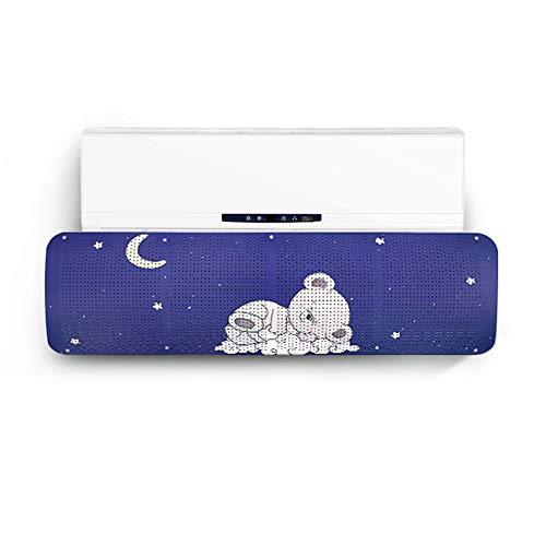 ALaSou Condizionatori a Parete Deflettore,Aria condizionata Vento deflettore d Aria Deflettore Regolabile del Vento Prevenire Vento Freddo(Blue