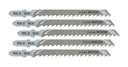 DEWALT DT2164-QZ - Hoja de sierra de calar HCS, longitud: 100mm, paso de diente: 4mm, para cortes rectos rápidos en madera, aglomerado, contrachapado, laminado y plástico de hasta 60mm de espesor