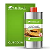 Nordicare Aceite para madera en exteriores [500ml] para madera de alerce, roble, teca o acacia I Aceite para la protección de la madera en exteriores, aceite de teca para muebles de jardín,