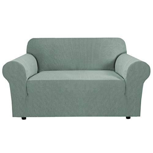 BellaHills Dicke 2-Sitzer-Sofabezüge für 2-Kissen-Couch Stilvolle Muster-Sofabezüge für Sofa Stretch Jacquard Sofa Schonbezug für Wohnzimmer Hund Haustier Möbelschutz (2-Sitzer, Salbei)