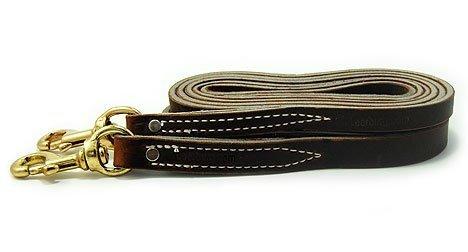 Leerburg Amish Leather Leash, 4' Long 3/4