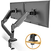 HumanOffice Full Motion Gas Spring Dual Monitor Mount Stand