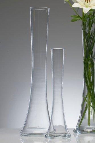 """Glasvase \""""Big Solifleur X\"""" Vase Glas Blumenvase Tischvase Bodenvase, hot cut 60 cm"""