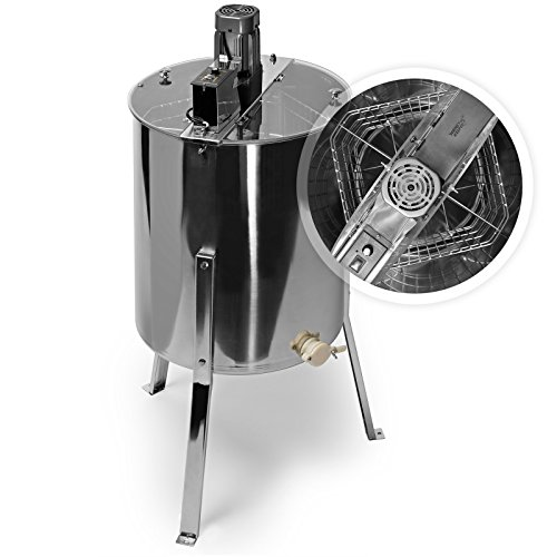 Honey Keeper Pro Electric 4 Four Frame Stainless Steel Honey Extractor Beekeeping Equipment...