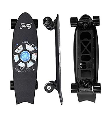 JKING Electric Skateboard Electric Longboard with Remote Control Skateboard,350W Hub-Motor,15.5 MPH Top Speed,3 Speed Adjustment