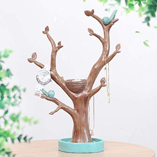 OYQQ Esculturas Adornos Estatuilla, Rama Creativa Soporte De Exhibición De La Joyería Almacenamiento Collar Pequeño Estante Clave Árbol