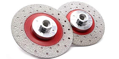 Disco da taglio diamantato professionale del diametro di 125 mm, M14, per gres porcellanato, piastrelle, granito, cemento