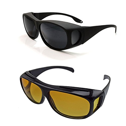Buy Uspech Unisex Uv Protected Googles For Night And Day 2 Pieces (Gl_Uv_Protection_Sunglass-Mfn)