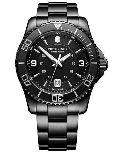 Victorinox Hombre Maverick Black Edition - Reloj de Acero Inoxidable de Cuarzo analógico de fabricación Suiza 241798
