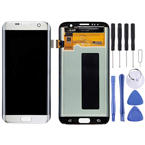 SSHELL vervangend LCD-scherm + aanraakpaneel voor Galaxy S7 Edge / G9350 / G935F / G935A / G935V, G935FD, G935W8, G935T, G935U(zilver) Screen Assembly Kits + Hele set vervangende gereedschappen, ZILVER