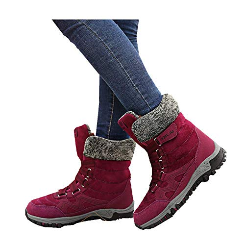 Women's Shoes Ladies Hot Fashion Winter Snow Warm Ankle Boots Fur Lined Bootie Shoes