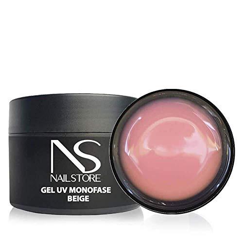 Nail Store - Gel UV Led Costruttore Monofasico Cover Beige - media densità - autolivellante (50g)