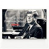 sjkkad Wandkunst Bild Zitat Typografie John F. Kennedy