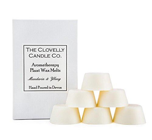 Clovelly Soap Co. Handgemachtes natürliches Soja-Duftwachs-Set Mandarine & Ylang Ylang Aromatherapie 6 Stück