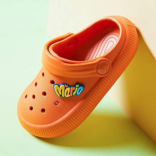 COQUI Sandalia Mujer,Primavera y Verano nuevos Zapatos de Agujero para niños Simples de Moda de Color sólido-Caramelo_180
