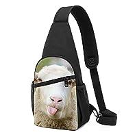 面白いいたずら羊 ボディバッグ ワンショルダーバッグ 斜めがけバッグ ショルダーバッグ ポーチ付き オシャレ メンズ レディース