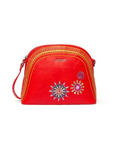Desigual Bols_Ada Deia - Bolso bandolera para mujer, color rojo