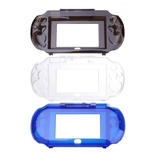 Transparent Hard Crystal Protective Shell Skin Case Cover for Sony Playstation PS Vita 2000 PSV 2000 Console (Clear Blue)