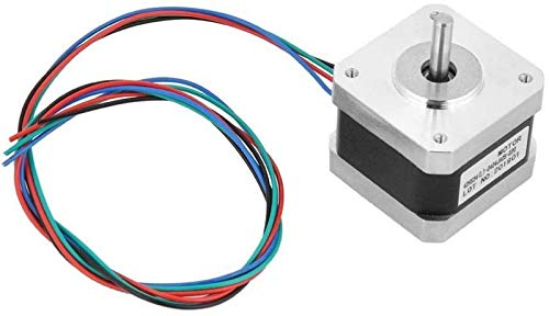 JJDSN Stepper Motor, 5pcs 12V Motor 32N.cm 4-Wire 1.8 Degree 2-Phase Stepper Motor with Bipolar Motor Cables for 3D Printer/CNC