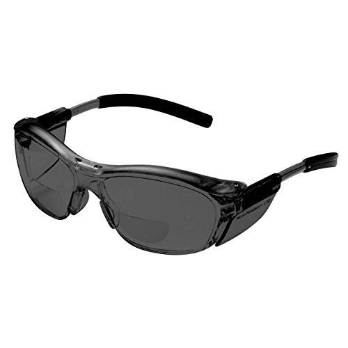 3M(TM) Nuvo(TM) Gafas de protección para lector, 11501-00000-20 lente gris, marco gris, 2.0 dioptrías 20 ea/estuche