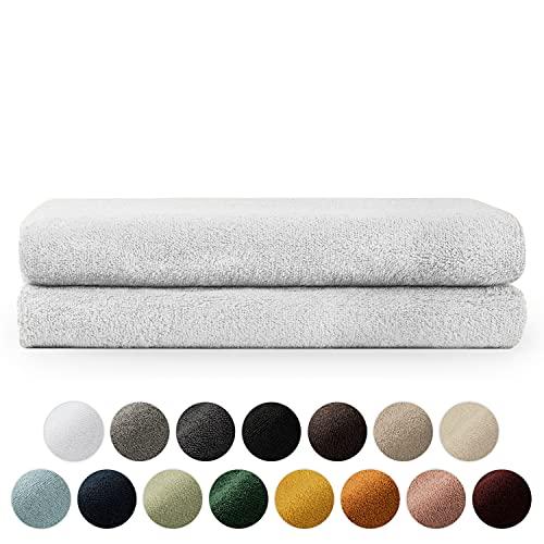 Blumtal Set de 2 Toallas de Baño (70x140cm) - Toallas Suaves y Absorebentes, 100% algodón, Certificado Oeko-Tex 100, Blanco