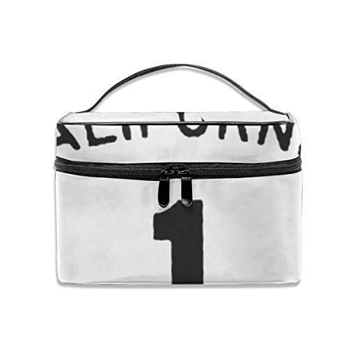 California State Highway Route 1 Sign Travel Maquillage Case Makeup Cosmetic Case Organizer Portable Storage Bag