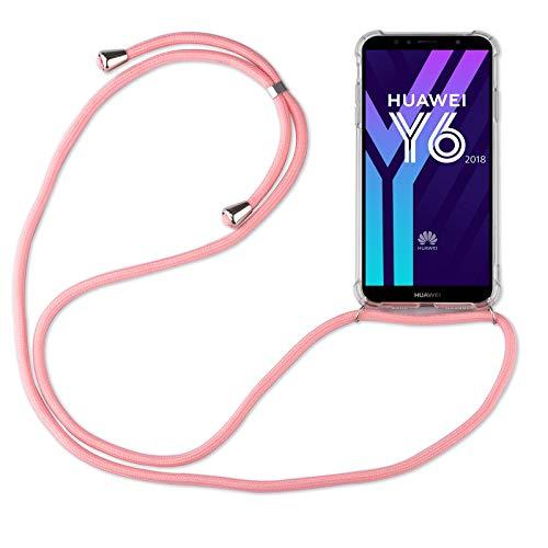 betterfon | Huawei Y6 2018 Handykette Smartphone Halskette Hülle mit Band - Schnur mit Hülle zum umhängen Handyhülle mit Kordel zum Umhängen für Huawei Y6 2018 / Honor 7A Rosa