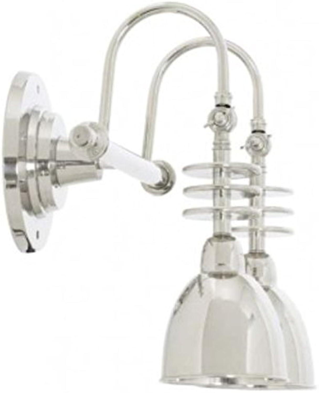 Casa Padrino Luxus Doppel Wandleuchte Silber 46,5 x 26,5 x H. 40,5 cm - Hotel Kollektion B0755RBPS7 | Vielfältiges neues Design