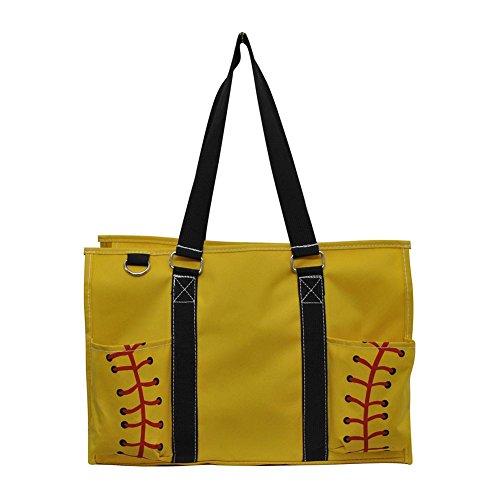 N Gil All Purpose Organizer Medium Utility Tote Bag 3 (Yellow Softball Black)