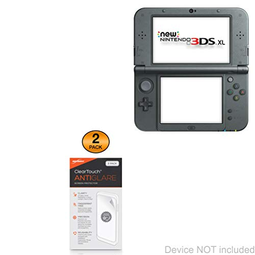 Protetor de tela Nintendo 3DS XL, BoxWave [ClearTouch antirreflexo (pacote com 2)] Película fosca anti-impressão digital para Nintendo New 3DS XL | Switch Lite | Nintendo 2DS XL