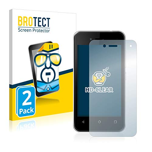 BROTECT Schutzfolie kompatibel mit Wiko Sunny 3 Mini (2 Stück) klare Bildschirmschutz-Folie