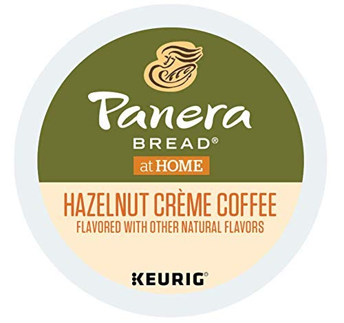 Panera Bread Hazelnut Creme Coffee single serve capsules for Keurig K-Cup Pod brewers (80 Count)